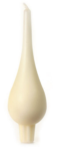 Large Drop Candle Pair, Cream