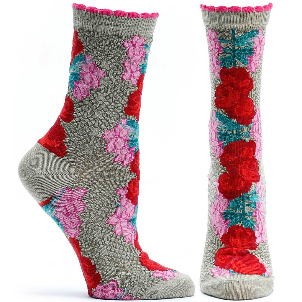 Ozone Socks, Bollywood Gardens, Beige