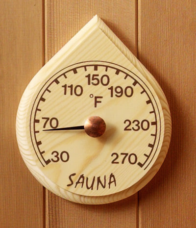Rain Drop Sauna Thermometer