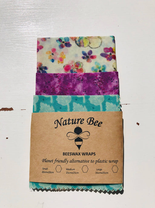 Nature Bee Beeswax Wraps Flower Pack