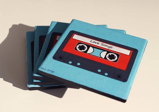 Old Cassette Tape Coasters