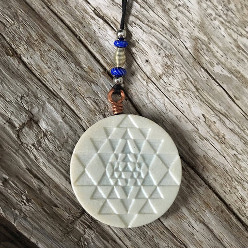 Akasha Sri Yantra Sacred Geometry Biomagnetic Field-Clearing Amulet