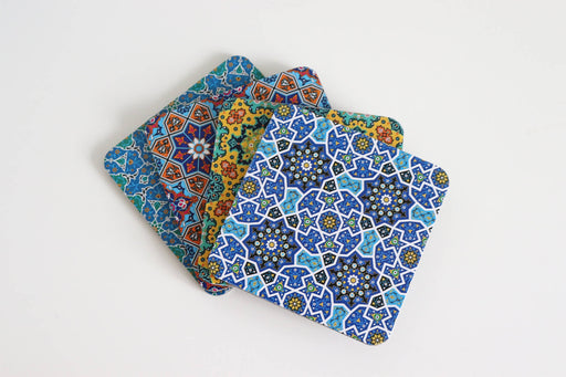 Persian Design Wooden Coasters (set of 4)