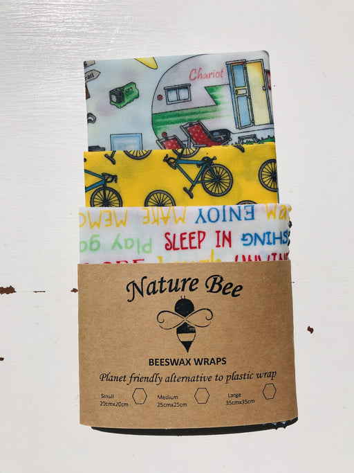 Nature Bee Beeswax Wraps Camping Pack