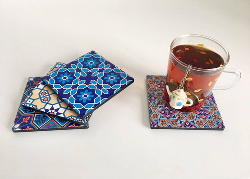 Middle Eastern Design Ceramic Coasters