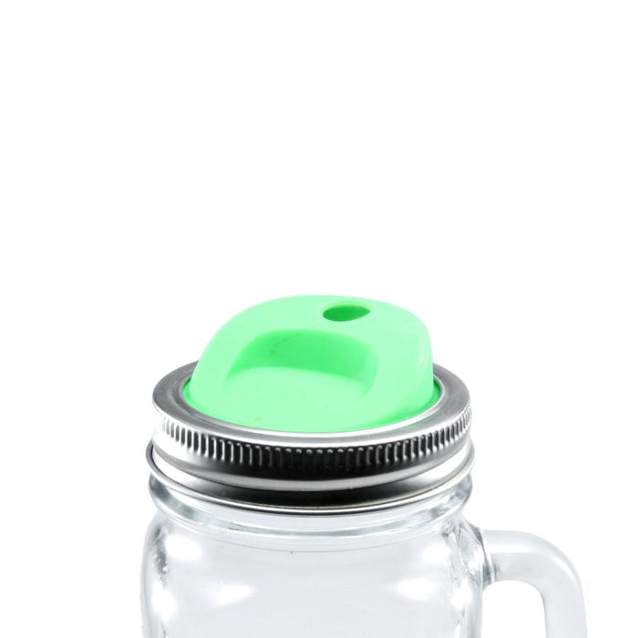 Silicone Mason Jar Lids with Stainless Steel Bands