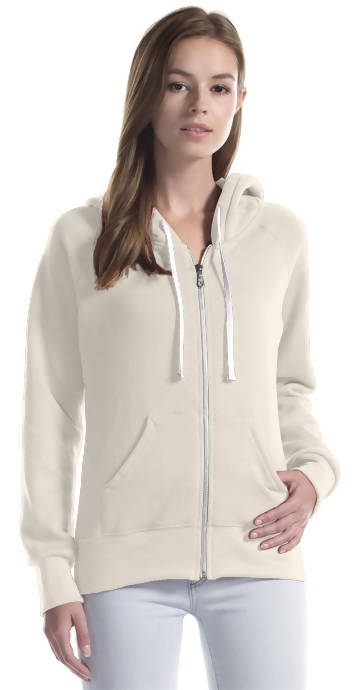 Three-End Bamboo Fleece Full Zip Hooded Sweatshirt