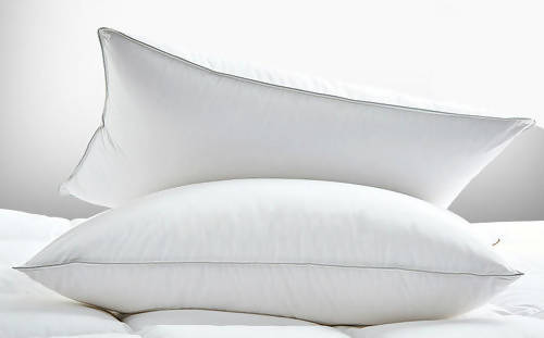 Hutterite White Goose Down Pillow - Roma