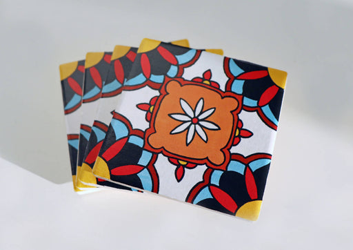 Floral Persian Inspired Design Ceramic Coasters
