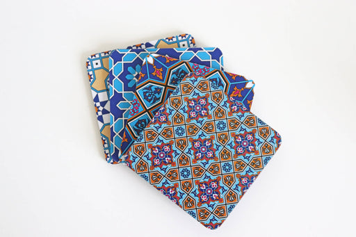 Middle Eastern Design Wooden Coasters (set of 4)