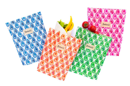 BeeBAGZ™ Medium Pack (Set of 4) - Beeswax Wrap Bags