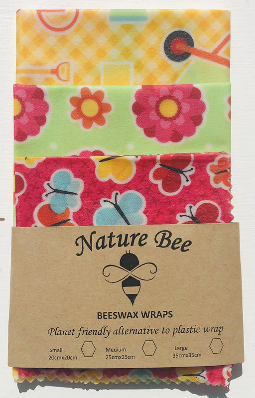 Nature Bee Beeswax Wraps Garden Set