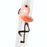 Flamingo Reusable Glass Drinking Straws