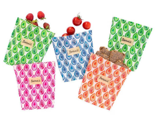 BeeBAGZ™ Small Pack (Set of 5) - Beeswax Wrap Bags