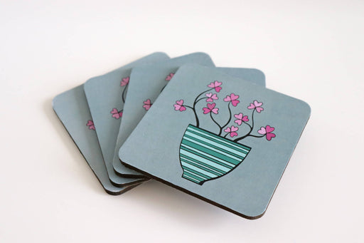 Blossom Wooden Coasters (set of 4)