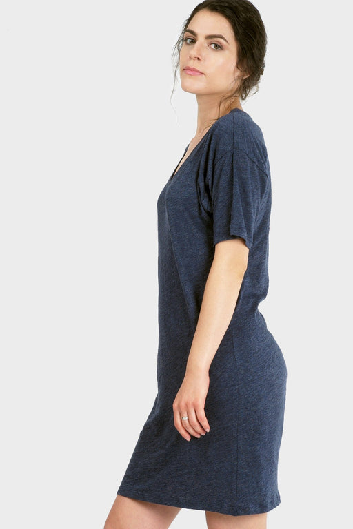 Organic Cotton and Bamboo T-Shirt Dress in Ocean