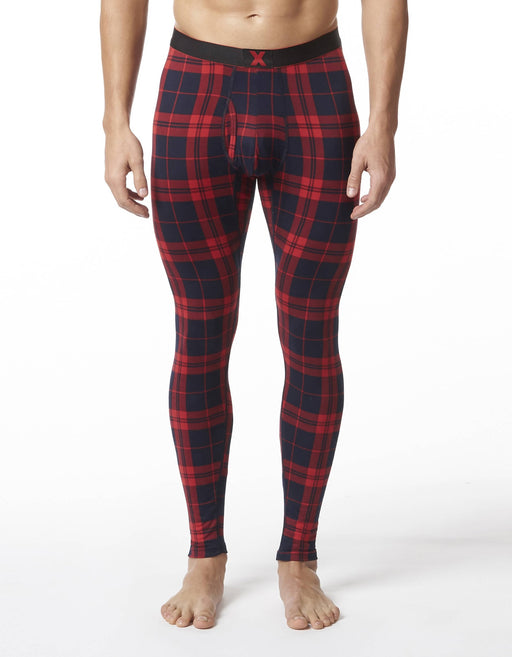 """X"" PRINTED STRETCH LONG JOHN"