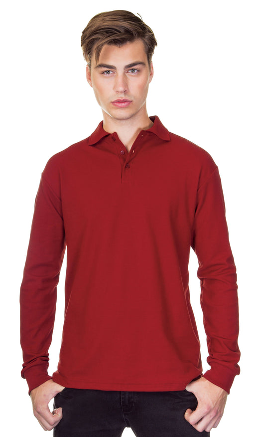 Classic Long Sleeve Cotton Piqué Polo Shirt