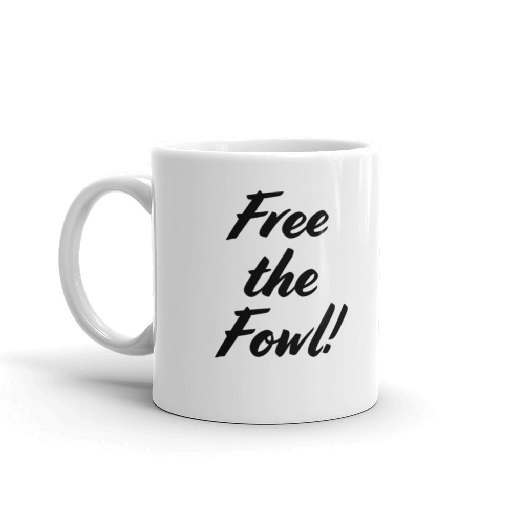 Free the Fowl! VikHen Awk Mug