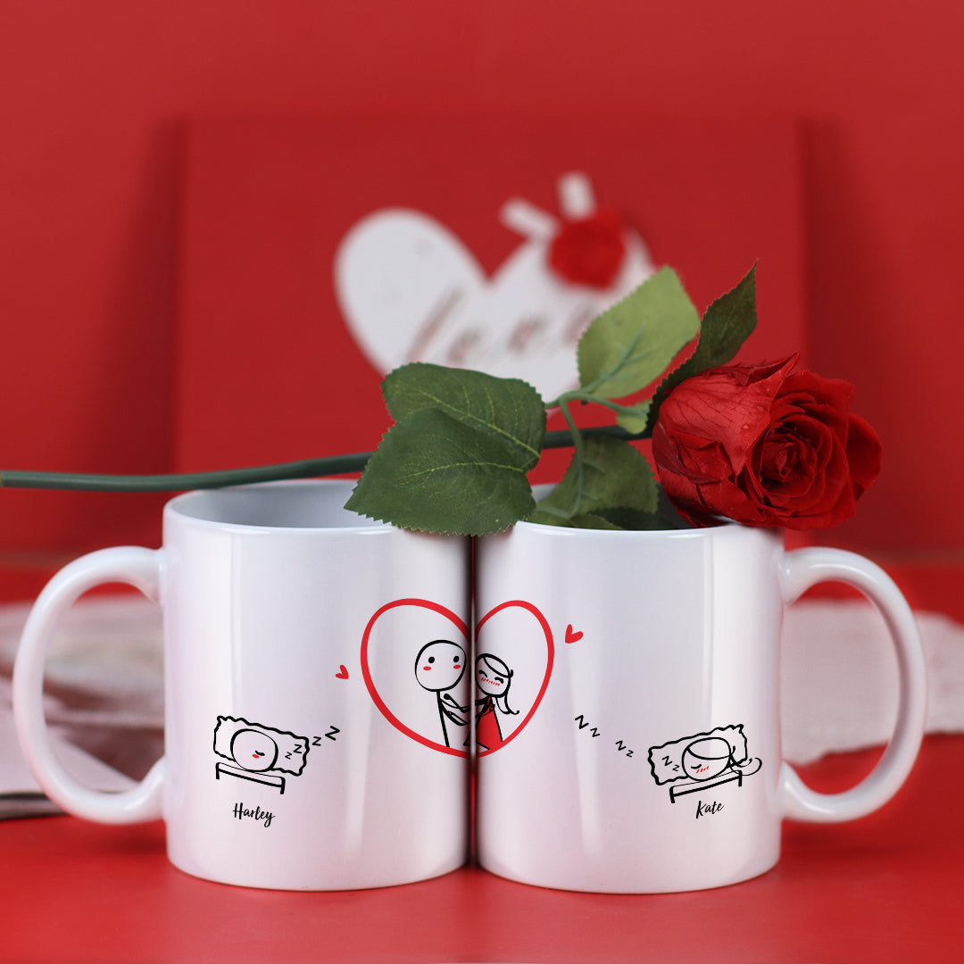 Couple Mugs Set, 15 Backgrounds for choosing - Dreaming Of You