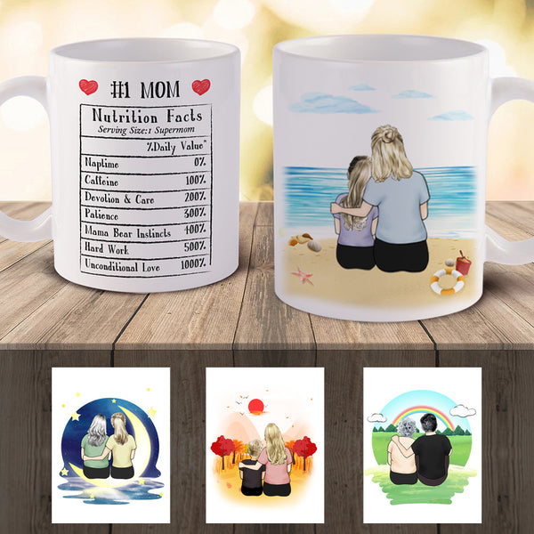 Personalized Best Mom Mugs - 3D Preview | Made In USA