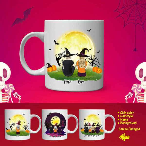 Personalized Best Friends Coffee Mug For Woman & Man - Halloween