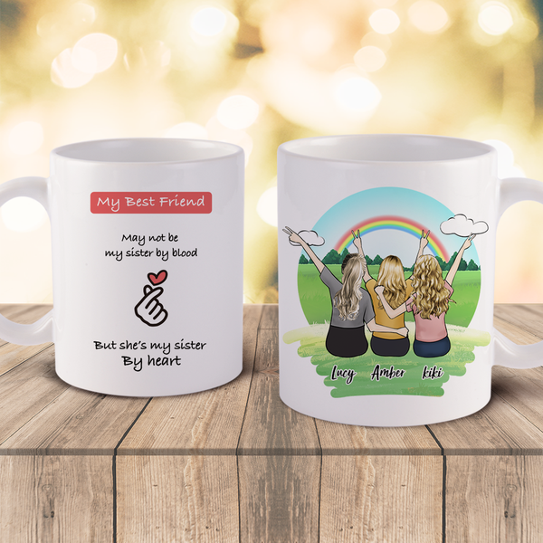 Personalized Best Girls Friends Coffee Mugs - Best Gift Idea For Best Friends | Made In USA