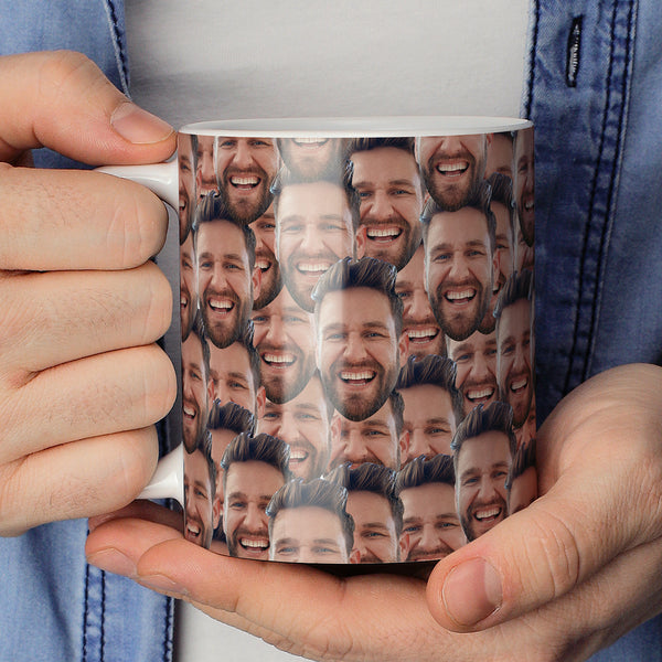 Personalized Mash Face Full Coverage Mugs