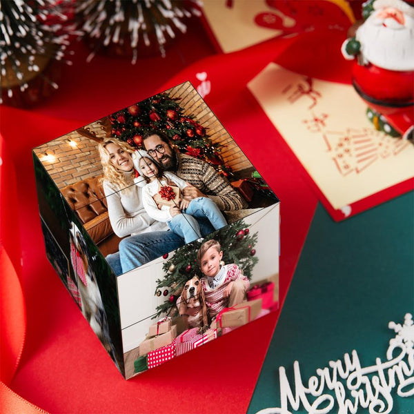 Custom DIY Cube - Magic Folding Photo Rubik's Cube - Christmas Gift for Family