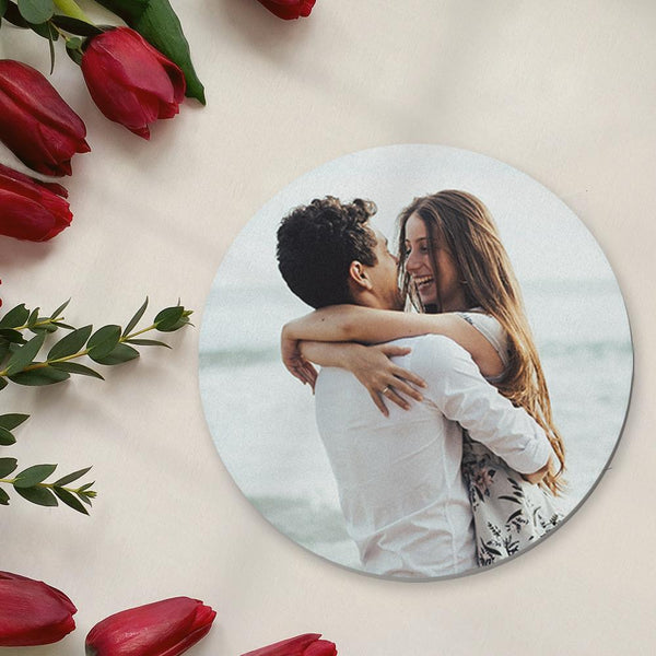 Custom Coaster Round Photo Coaster for Couple