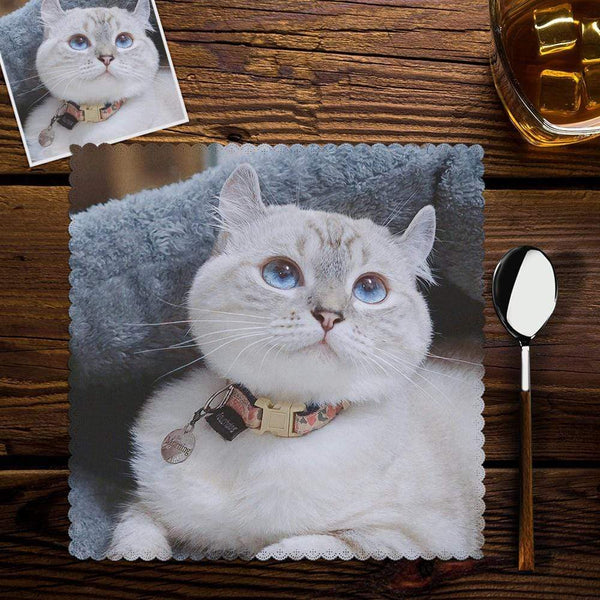 Personalized Photo Placemats Pet Cat Placemat Kitchen Accessories