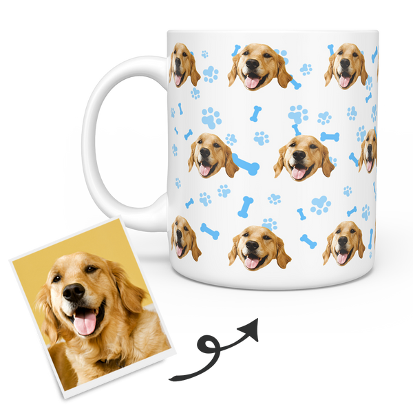 Personalized Mug With Dog Photo - Custom Pet Face Coffee Mugs