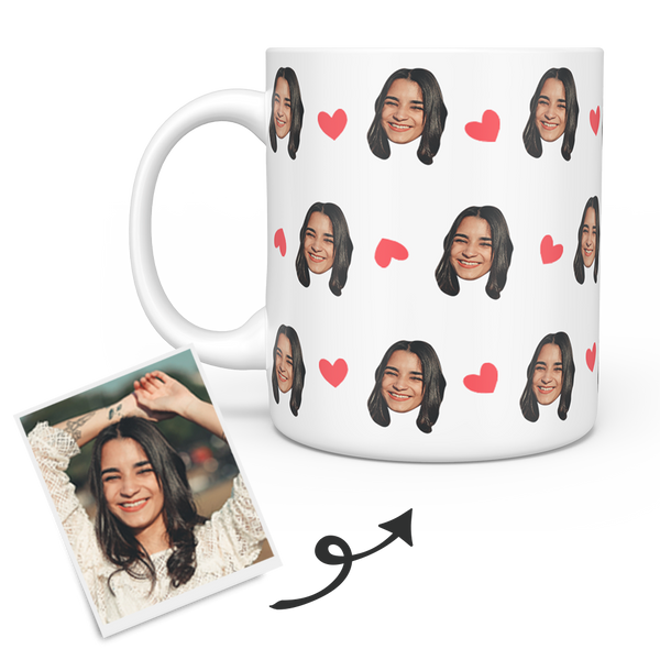 Personalized Custom Face Mug - Any Photo (Person, Puppy or Kitty)