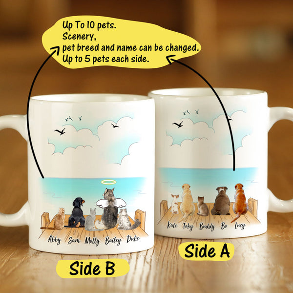 Personalized Pets Coffee Mug Dogs & Cats (Up To 10 Pets)