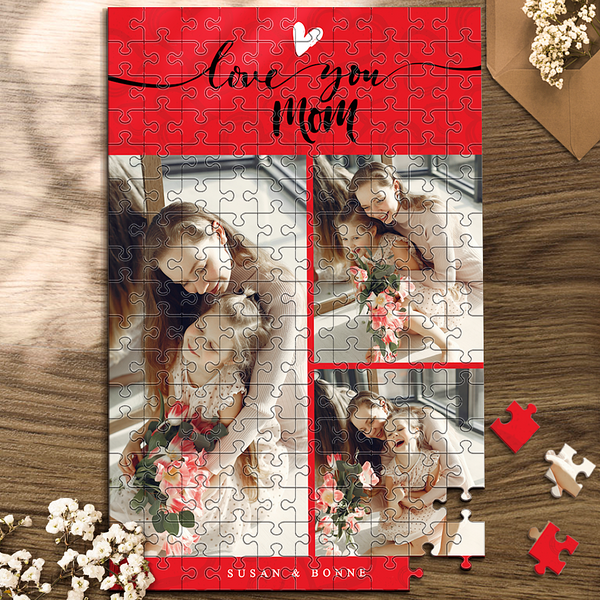 Custom Photo Jigsaw Puzzle I Love You Mom Best Indoor Gifts 35-1000 pieces