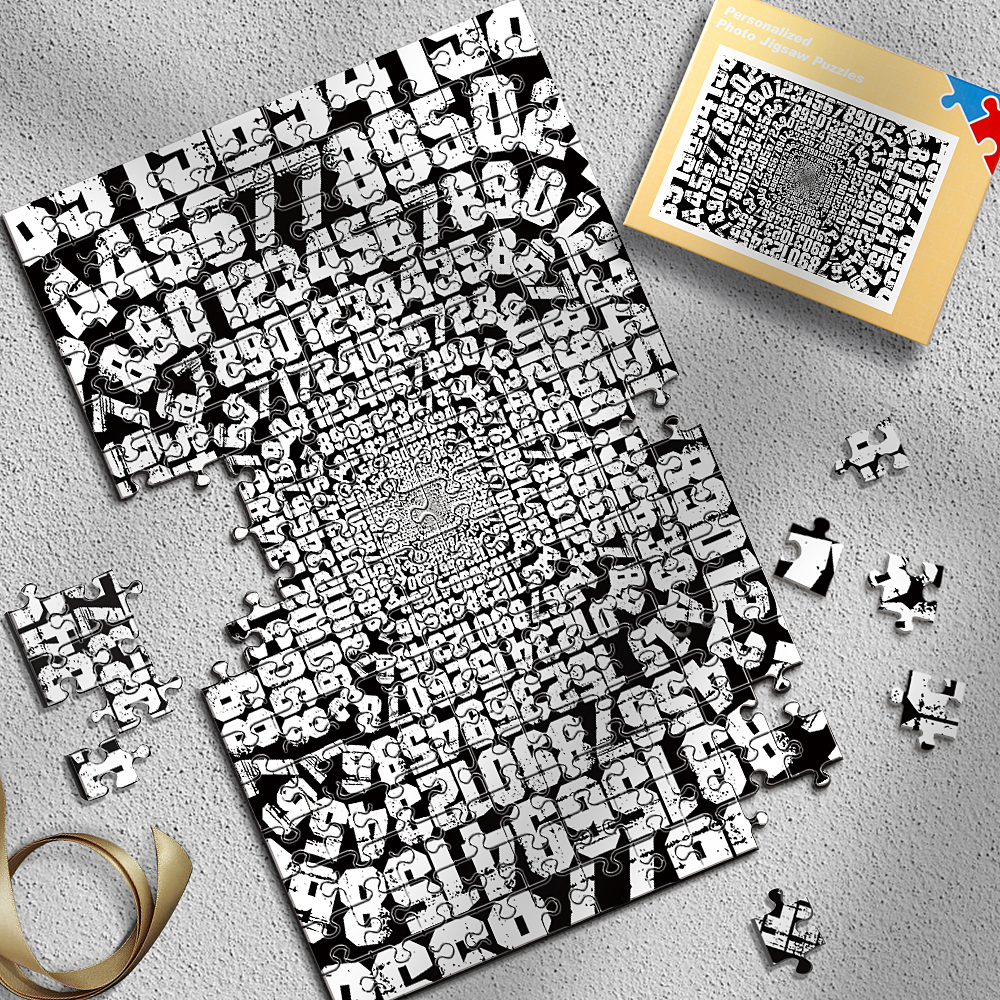 Personalized Number Vortex Puzzles Best Stay-At-Home Gifts 300-1000 Pieces