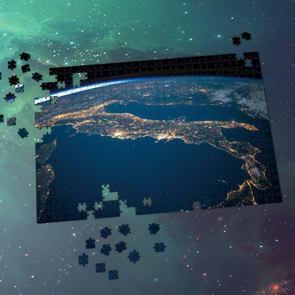 Space Jigsaw Puzzle Universe Best Gifts For Family - Shining Lights On The Earth's Surface