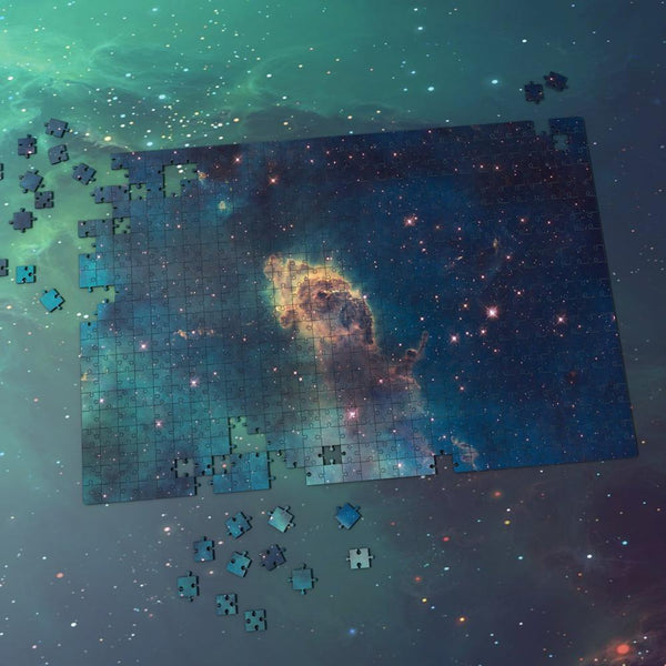 Space Themed Jigsaw Puzzle Best Gifts For Family And Friends - Earthy Yellow Nebula