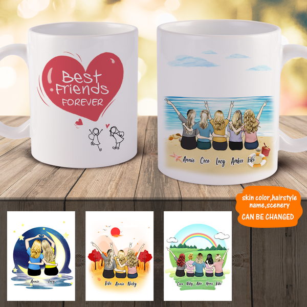 Personalized Best Girls Friends Coffee Mugs - Best Gift Idea For Best Friends