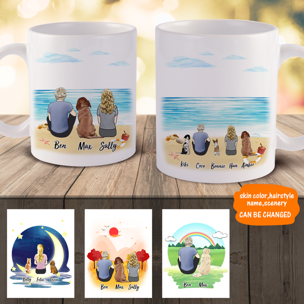 Personalized Dog And Dog Owner Coffee Mugs | Made In USA