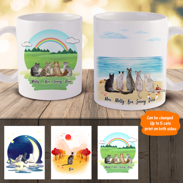 Personalized Cat Mugs - Best Gift For Cat Lover | Made In USA