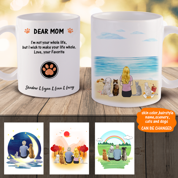 Personalized Pet and Owner Mugs