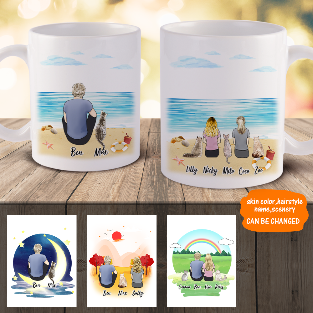 3D Preview - Personalized Family Mugs