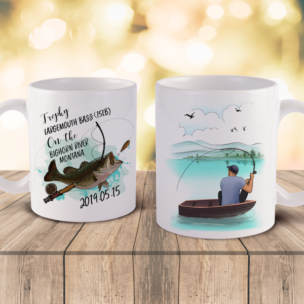 Personalized Fishing Commemoratuve Coffee mugs- For Angler