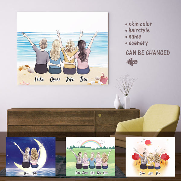 Personalized Best Girls Friends Painting - Best Gift For Friends