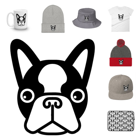 French bulldog appares and accessories collection