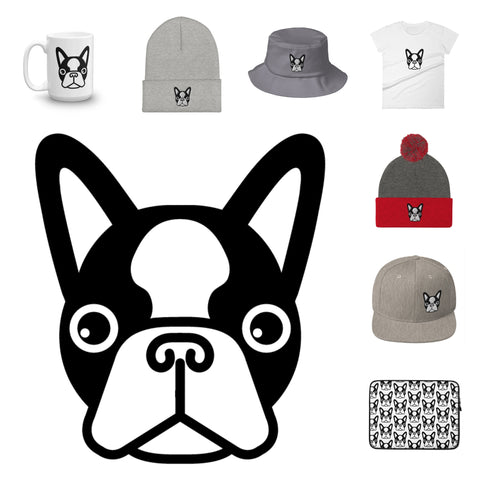 Frenchie head apparels