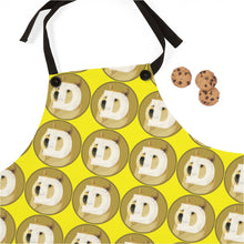 Load image into Gallery viewer, Dogecoin Crypto Logo Pattern, Apron