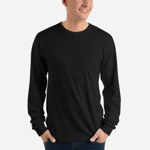 Design Your Own, Unisex Fine Jersey Long Sleeve T-Shirt (4 colors)