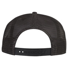 Load image into Gallery viewer, Fuck You in Japanese Letters White 3D Puff, Flat Visor Mesh Back Snapback Hat Charcoal Gray